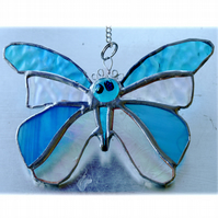 Birthstone Butterfly Suncatcher Stained Glass Turquoise December 046