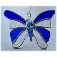 Birthstone Butterfly Suncatcher Stained Glass Sapphire September 047