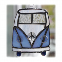 Campervan Suncatcher Stained Glass Blue 037