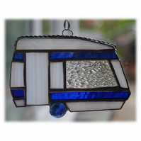 Caravan Suncatcher Stained Glass Classic Blue 043