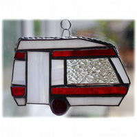 Caravan Suncatcher Stained Glass Classic Red 044