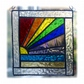Rainbow Beach Stained Glass Suncatcher Handmade 023