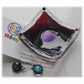 Earring Ring Dish Fused Glass 6.5cm Streaky Plum Dichroic Heart 018