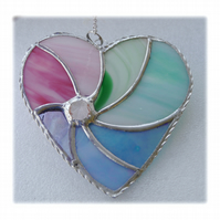 Pastel Swirl Heart Stained Glass Suncatcher 019