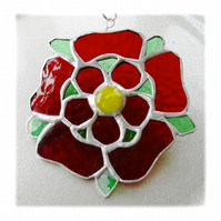Lancashire Rose Suncatcher Stained Glass 042