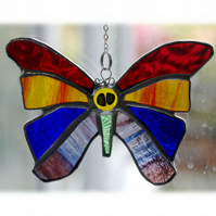 Rainbow Butterfly Suncatcher Stained Glass 048