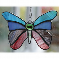 Pastel Butterfly Suncatcher Stained Glass 049