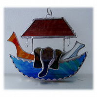 Noahs Ark Suncatcher Stained Glass Handmade 026