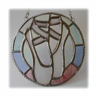 Ballet Shoes Suncatcher Stained Glass Pastel 005