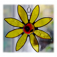 Sunflower Suncatcher Handmade Stained Glass 037