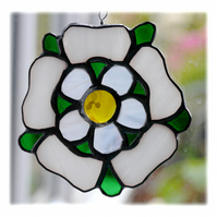 Yorkshire Rose Suncatcher Stained Glass 043