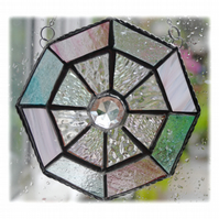 Octagon Suncatcher Stained Glass Crystal Abstract 007
