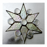 Star Stained Glass Suncatcher Christmas Snowflake 012