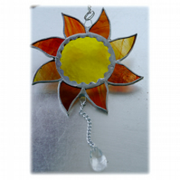 Sun Suncatcher Stained Glass Handmade Sunshine 012