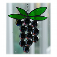 Black Grapes Suncatcher Stained Glass 007