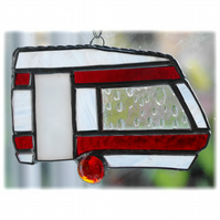 Caravan Suncatcher Stained Glass Classic Red 045
