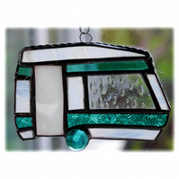 Caravan Suncatcher Stained Glass Classic Teal 046