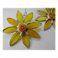 Sunflower Suncatcher Handmade Stained Glass 040