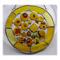Sun Spots Suncatcher Stained Glass Sunshine Handmade fused 003