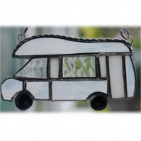 Motorhome Suncatcher Stained Glass Compass Drifter Campervan 021