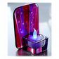 Candle Holder Fused Glass Tea-light  Purple Flare 001 Dichroic