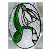 Snowdrop Stained Glass Suncatcher Flower 025
