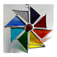 Colour Wheel Suncatcher Stained Glass Rainbow 019