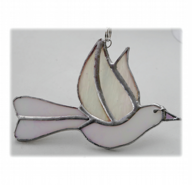 Dove Suncatcher Stained Glass Peace 034