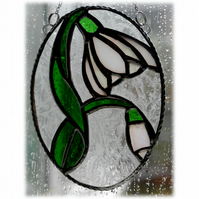 Snowdrop Stained Glass Suncatcher Flower 026
