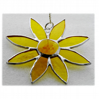 Sunflower Suncatcher Handmade Stained Glass 045