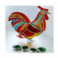 Rooster Stained Glass Ornament Cockerel Richard Xl