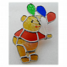 Bear with Balloons Suncatcher Stained Glass Handmade 013 014