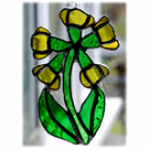 Cowslip Suncatcher Stained Glass Yellow Spring Flower 004
