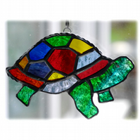 Tortoise Suncatcher Stained Glass Handmade Rainbow 025 Turtle