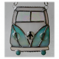 Campervan Suncatcher Stained Glass Aqua 040