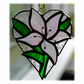 Lily Heart Suncatcher Stained Glass 009 Pale Pink