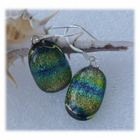 Handmade Fused Dichroic Glass Earrings 229