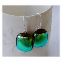 Handmade Fused Dichroic Glass Earrings 241
