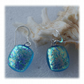 Handmade Fused Dichroic Glass Earrings 242