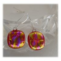 Handmade Fused Dichroic Glass Earrings 243