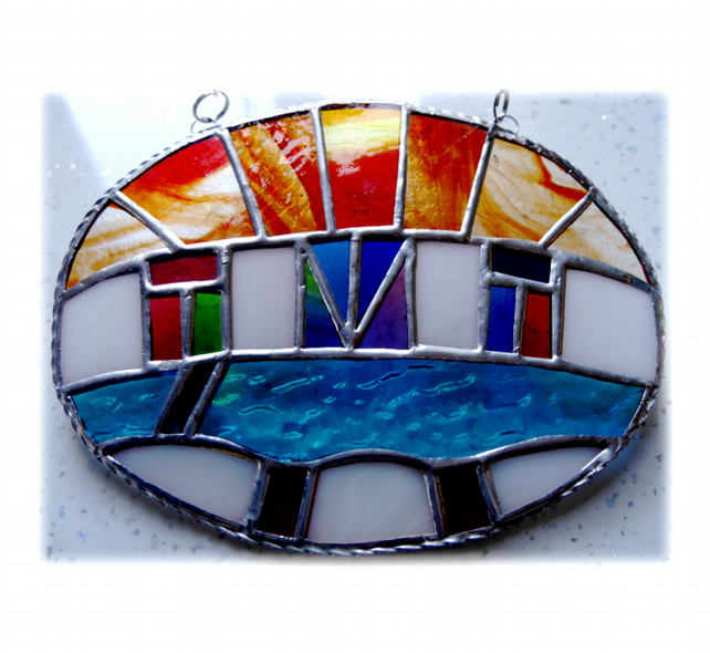 0a0d4285218c Udaipur Lake Sunrise Stained Glass Suncatcher 0... - Folksy
