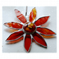 Gerbera Suncatcher Stained Glass Amber Flower 013