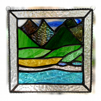 Picos Mountains Picture Suncatcher Stained Glass 007