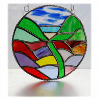 Herbaceous Garden Stained Glass Suncatcher