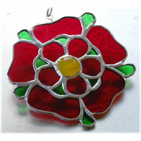 Lancashire Rose Suncatcher Stained Glass 049