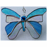 Birthstone Butterfly Suncatcher Stained Glass Turquoise December 050