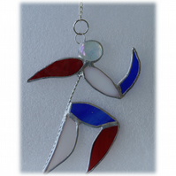 Runner Suncatcher Stained Glass Handmade 004 Patriotic