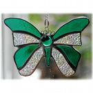 Birthstone Butterfly Suncatcher Stained Glass Emerald May 055