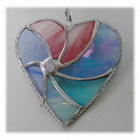 Pastel Swirl Heart Stained Glass Suncatcher 040