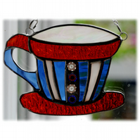 Teacup Stained Glass Suncatcher coffee cup mug 010